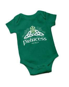 """Celtic Princess"" Jersey Onesie (Green)"
