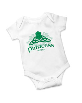 """Celtic Princess"" Jersey Onesie (White)"