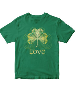 """Love"" Blend Youth T-shirt (Green)"
