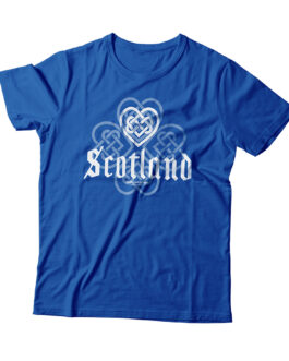 """Love Scotland"" Blend Adult T-shirt (Blue)"