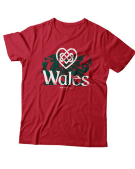 """Love Wales"" Blend Adult T-shirt (Red)"